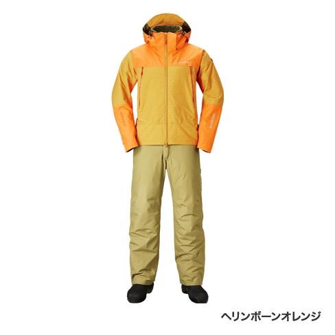 【シマノ(SHIMANO)】RB-025R ヘリンボーンオレンジ XL DSアドバンスウォームスーツ 防寒【在庫限り 在庫処分】