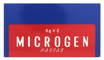 第1類医薬品 啓芳堂製薬 定番から日本未入荷 ミクロゲン パスタ 超定番 ヒゲ用 眉毛 6g×2本 発毛促進剤