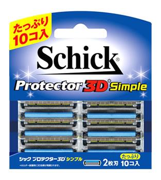 シック プロテクター 3D シンプル 替刃 (10個) カミソリ替え刃