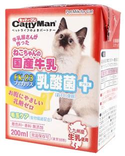 ドギーマン 売り込み キャティーマン ねこちゃんの国産牛乳 乳酸菌プラス SALE キャットフード 200mL 猫用ミルク