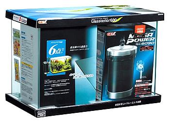 ジェックス グラステリア 600 6点セット (1セット) 水槽セット メガパワー6090 観賞魚用品