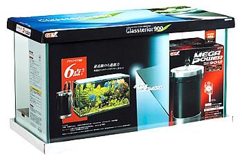 ジェックス グラステリア 900 6点セット (1セット) 水槽セット メガパワー9012 観賞魚用品
