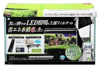 ジェックス マリーナ600 LEDセット (1セット) 水槽セット 上部式フィルター LEDライト 観賞魚用品