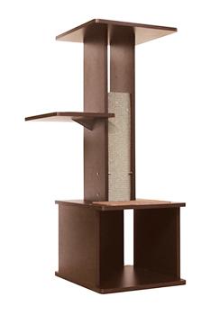 ペティオ necoco スリムで壁ぎわに置きやすい キャットリビングタワー (1個) キャットタワー