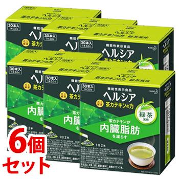 《セット販売》 花王 ヘルシア 茶カテキンの力 緑茶風味 (3.0g×30本)×6個セット 粉末飲料 機能性表示食品 【送料無料】 【smtb-s】 ※軽減税率対象商品