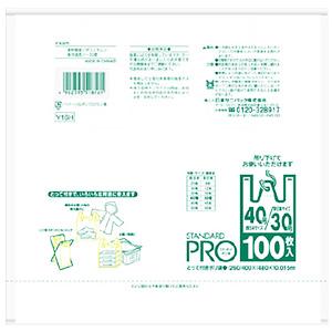 日本サニパック スタンダードプロ とって付き袋 ハーフ折り 新発売 在庫一掃売り切りセール 白 Y-16H 100枚入 スタンダードPRO 40 30号
