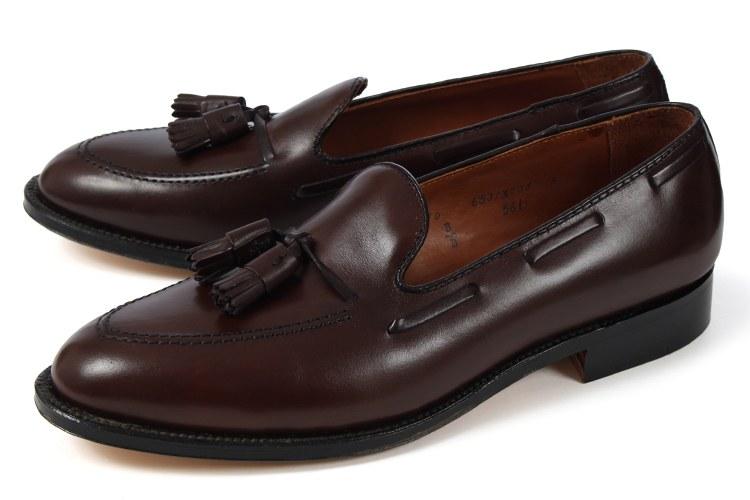 【エントリーでポイント10倍】大きいサイズ 靴【28cm】Alden(オールデン) タッセルローファー 561 D ダークブラウンカーフ ビッグサイズ