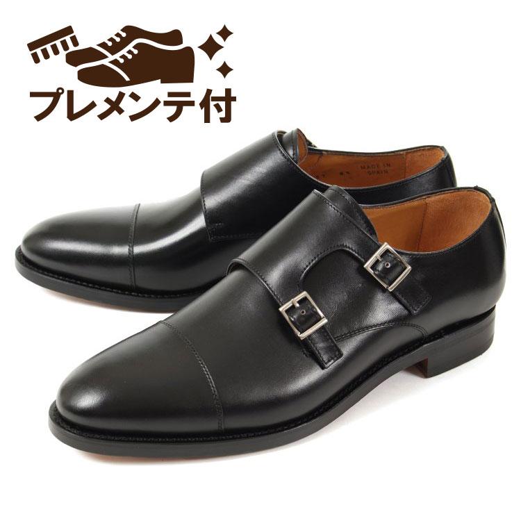 【エントリーでポイント10倍】【新着】 プレメンテ付き 大きいサイズ 靴【28cm 29cm】Berwick(バーウィック) メンズ ビジネスシューズ ダブルモンクストラップ 3637 ブラック ビッグサイズ