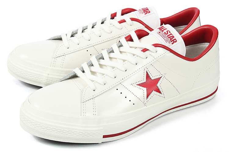 converse (コンバース) ONE STAR J(ワンスター J) ホワイト/レッド 白/赤 32346512
