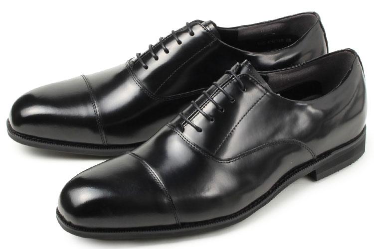 送料無料 大きい Kenford(ケンフォード) メンズ 靴 ビジネスシューズ ストレートチップ KN21 ADEB ブラック ビッグサイズ 【27.5cm 28cm 29cm 30cm】