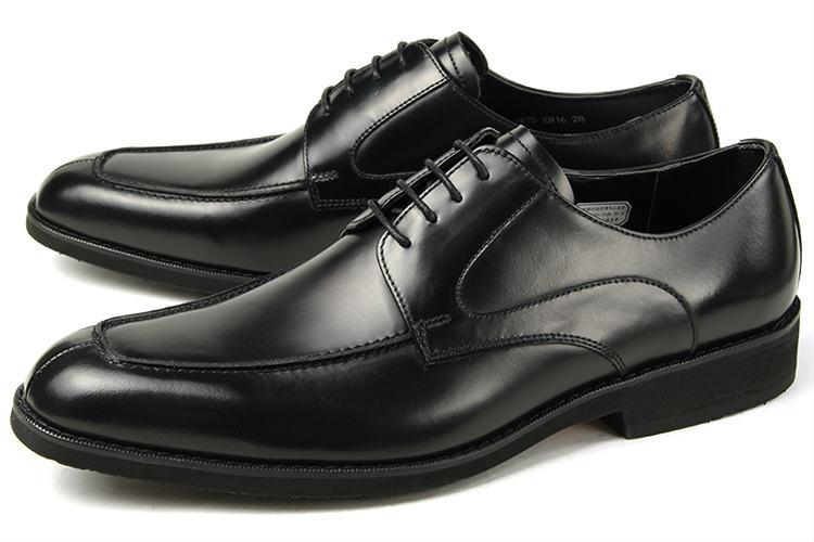 【エントリーでポイント10倍】大きいサイズ 靴【28cm 29cm 30cm】Kenford(ケンフォード) メンズ ビジネスシューズ Uチップ KN16 AEJEB ブラック 3E ビッグサイズ
