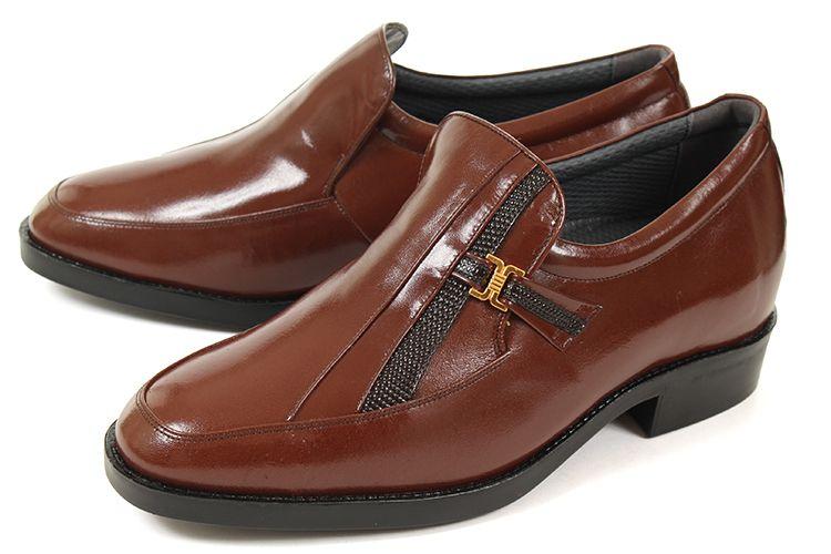 【エントリーでポイント10倍】5cmUP シークレットシューズ 北嶋製靴(キタジマセイカ) スリッポンビジネスシューズ 635 ブラウン