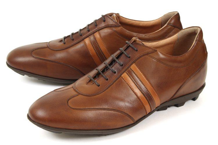 【エントリーでポイント10倍】5cmUP シークレットシューズ 北嶋製靴(キタジマセイカ) カジュアルシューズ レザースニーカー 899 ブラウン