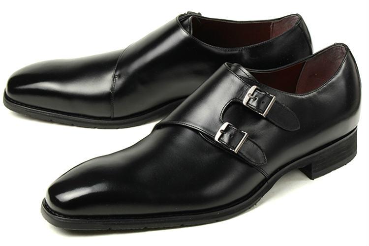【エントリーでポイント10倍】大きいサイズ 靴【28cm 28.5cm 29cm】madras MODELLO(マドラス モデロ) メンズ 本革 防水ビジネスシューズ ダブルモンクストラップ DMK356 ブラック ビッグサイズ