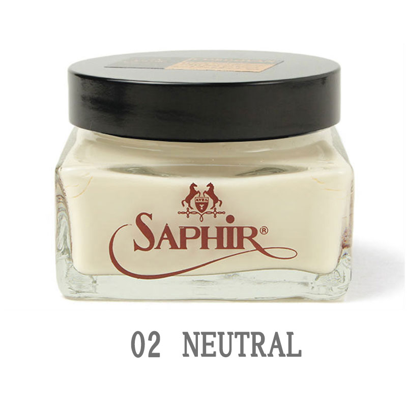 海外並行輸入正規品 シューケア用品 専用 お手入れ レザー あす楽対応 Saphir サフィールノワール Noir コードバンクリーム 返品不可