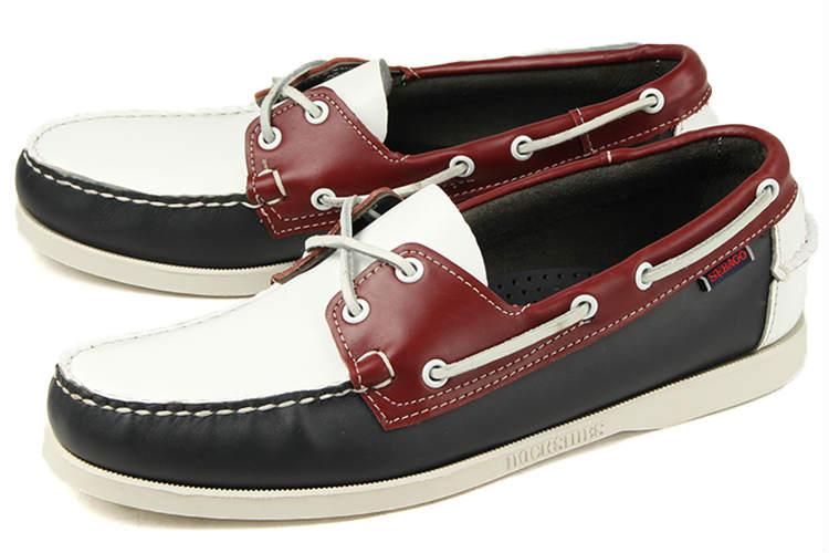 大きいサイズ 靴【28cm】SEBAGO(セバゴ) SPINNAKER(スピンネーカー) B72828 ネイビー/ホワイト/レッド 白 ビッグサイズ