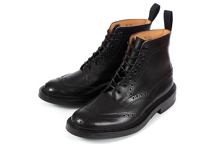 送料無料 大きいサイズ アイテム勢ぞろい 正規逆輸入品 メンズ 209slux 20bgs SALE 靴 Tricker's Box ビッグサイズ トリッカーズ M2508D Calf Black カントリーブーツ ブラックボックスカーフ