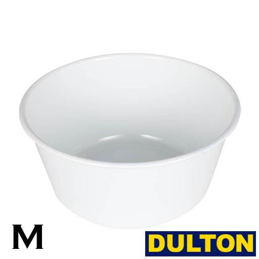 洗面 40%OFFの激安セール 食器洗い 小物の洗濯に DULTON 琺瑯ウオッシュボウル Mサイズ 6.5L 洗面器 洗い桶 サイズ:直径27.6×h13cm ダルトン エナメル おすすめ特集