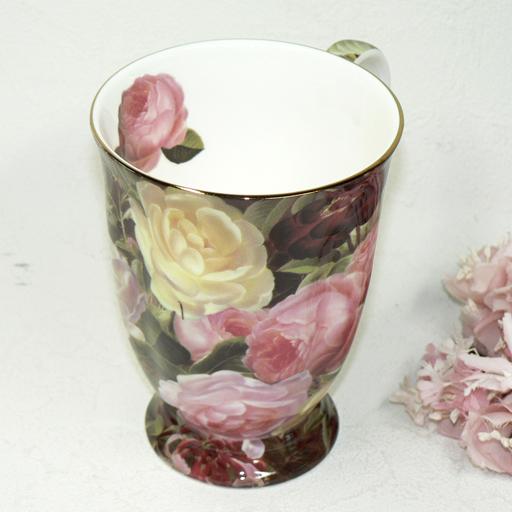 Bone China rose garden mug
