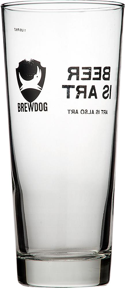 BrewDog buryudoggu US品脱玻璃杯480ml~BEER IS ART~