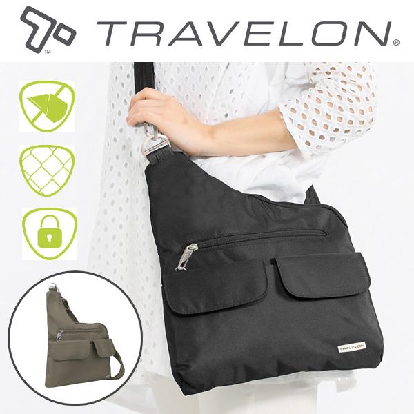 トラベロン社NEWセキュリティショルダーバッグ/42373/海外旅行対応盗難防止トラベルショルダーバッグ