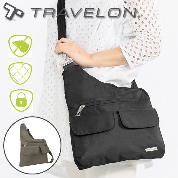 トラベロン社セキュリティショルダーバッグ/42373/海外旅行対応盗難防止トラベルショルダーバッグ