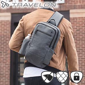 トラベロン セーフティアーバンスリングバッグ 43103/海外旅行対応盗難防止