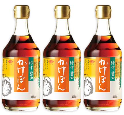 チョーコー醤油 ゆず醤油 かけぽん 400ml × 3本 【ぽん酢 ポン酢 チョーコー】《あす楽》