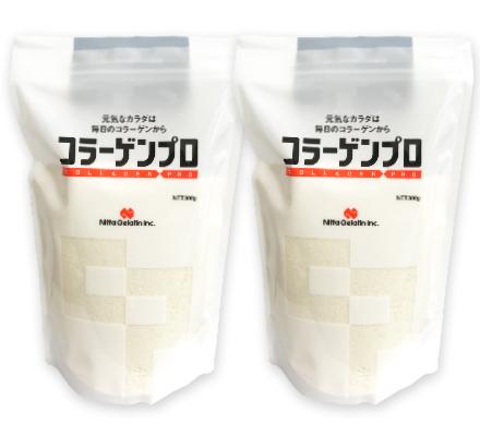 送料無料でお届けします 体内で吸収しやすくした糖分 脂肪分ゼロのたんぱく質補給食品 《送料無料》新田ゼラチン コラーゲンプロ 300g 捧呈 × 訳あり プロ 業務用サイズ 粉末 コラーゲン 大容量 粉 2袋