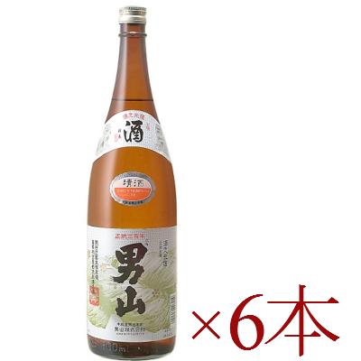 《送料無料》 清酒 男山 1.8L × 6本[北海道] 一升瓶 【お酒 日本酒 おとこやま】《あす楽》