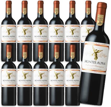 《送料無料》 モンテス アルファ カベルネ・ソーヴィニヨン 赤 750ml × 12本 【赤ワイン フルボディ】(ケース販売)《あす楽》