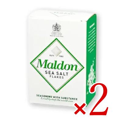 世界の有名シェフが指名する 英国王御用達 マルドンの塩 SS限定 最大2000円OFFクーポン マルドン シーソルト 保障 × 2個 今季も再入荷 海塩 塩 食塩 ソルト 125g