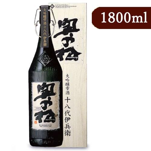 《送料無料》奥の松酒造 大吟醸 雫酒 十八代伊兵衛 1800ml 化粧箱付き《あす楽》