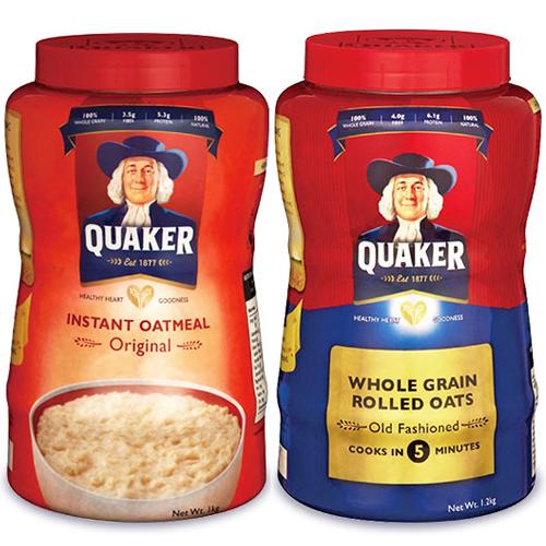 QUAKER オートミール オーツ麦 えん麦 燕麦 大容量 朝食 インスタント 手軽 簡単 オーストラリア産 全粒 穀物100% シリアル フレーク 業務用 おーとみーる 1000g 《送料無料》クエーカー インスタント オートミール オリジナル 1kg + クエーカー オールドファッション オートミール 1.2kg 各1個