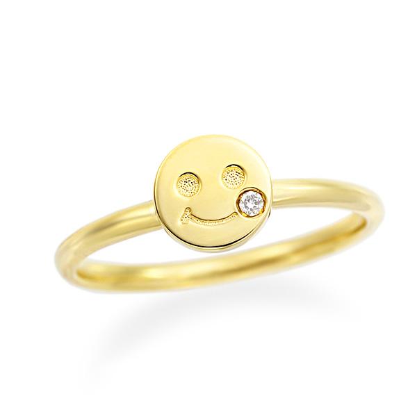 【DEAL】 K10イエローゴールドダイヤモンドリング(ピンキーリング)