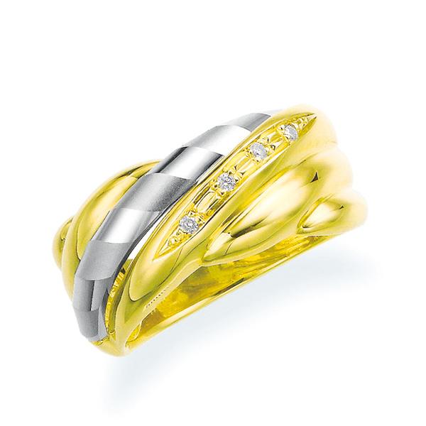 ポイント10倍キャンペーン ~5/25(月)23:59まで【SALE】 プラチナ/K18イエローゴールドダイヤモンドリング