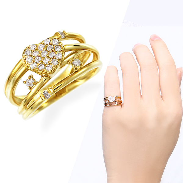 ポイント10倍キャンペーン ~5/18(月)9:59までK10イエローゴールドダイヤモンドリング(ピンキーリング)