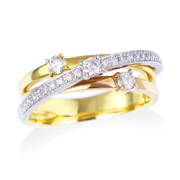 マルチカラーダイヤモンドリング