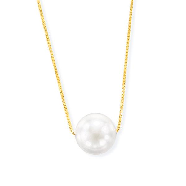 K18イエローゴールドアコヤ真珠ネックレス(7mm)