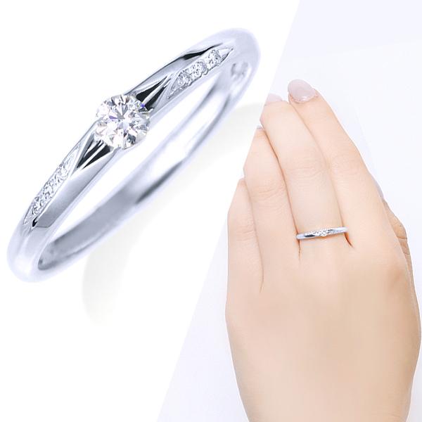 ポイント10倍キャンペーン ~9/14(月)9:59までK14ホワイトゴールド鑑別書付ダイヤモンドリング