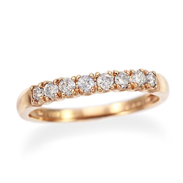 ポイント10倍 ~8/9(木)1:59までK10ピンクゴールドダイヤモンドリング