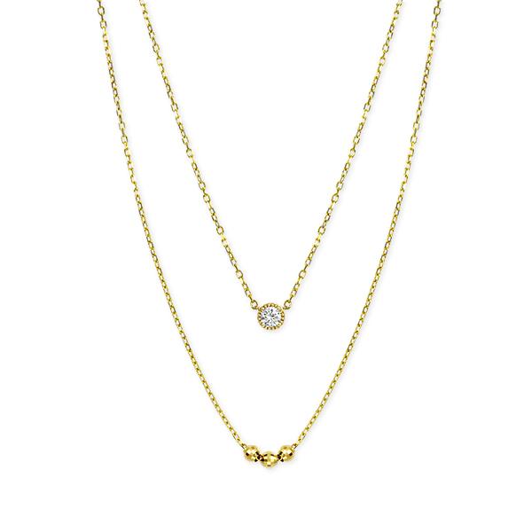 【DEAL】 K10イエローゴールドダイヤモンドネックレス