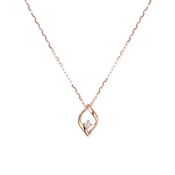 ポイント10倍キャンペーン ~5/18(月)9:59までK10ピンクゴールドダイヤモンドネックレス