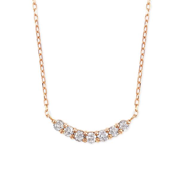【DEAL】 K10ピンクゴールドダイヤモンドネックレス