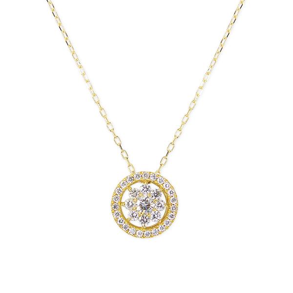 ポイント10倍キャンペーン ~5/25(月)23:59までK18イエローゴールドダイヤモンドネックレス