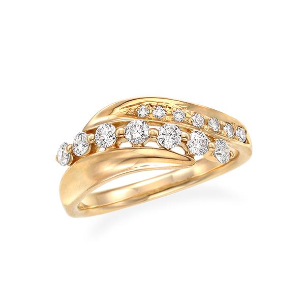 ポイント10倍キャンペーン ~5/18(月)9:59まで【SALE】 K18イエローゴールドダイヤモンドリング