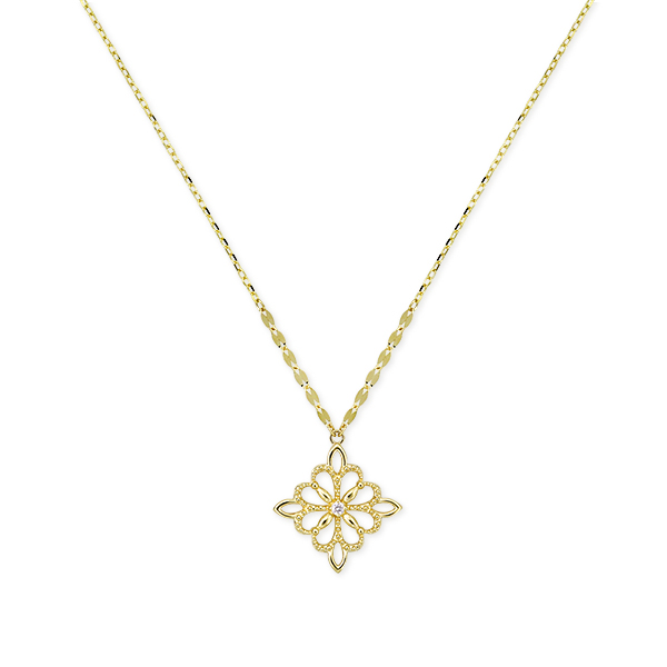 ポイント10倍キャンペーン ~5/18(月)9:59まで【SALE】 K10イエローゴールドダイヤモンドネックレス