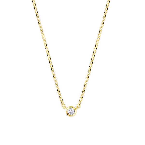 ポイント10倍キャンペーン ~9/14(月)9:59までイエローゴールドダイヤモンドネックレス ダイヤモンド ネックレス