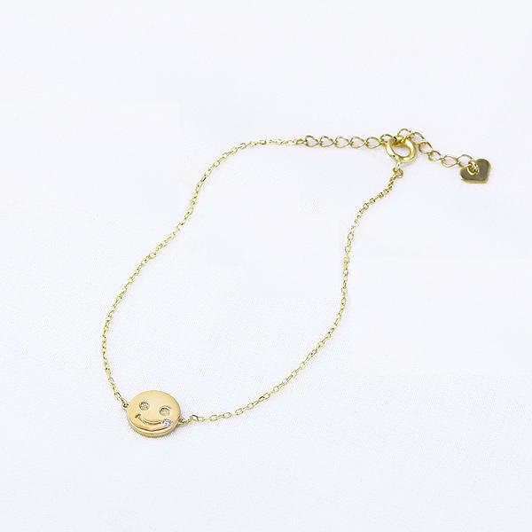 【DEAL】 K10イエローゴールドダイヤモンドブレスレット