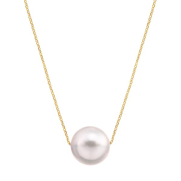 ポイント10倍キャンペーン ~9/14(月)9:59までK18イエローゴールドアコヤ真珠ネックレス(8.5mm)